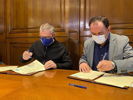 Rubricado el convenio de colaboración con la Diputación Provincial de Soria