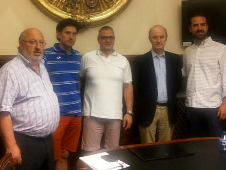 Ayuntamiento de Soria, Diputación de Soria, Rfevb y Río Duero se reúnen por la Copa del Rey