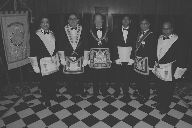R. W. Bro. David Hagger the Provincial Grand Master of Leicestershire and Rutland with The Lodge of the SArgonauts, No. 8210