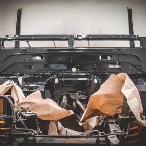 SPECTRE spec 110 county station wagon in Borealis black - Heading for Turkey