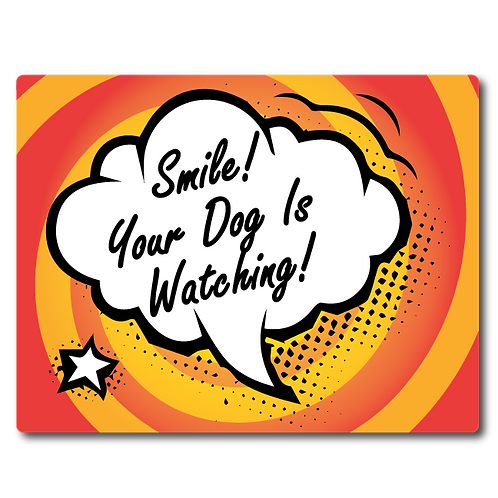 Pet Wash Signs - Smile! Your Dog Is Watching!