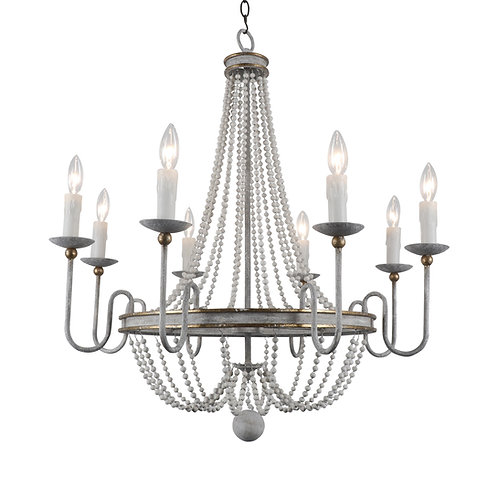 Rosabella Wood Bead Chandelier