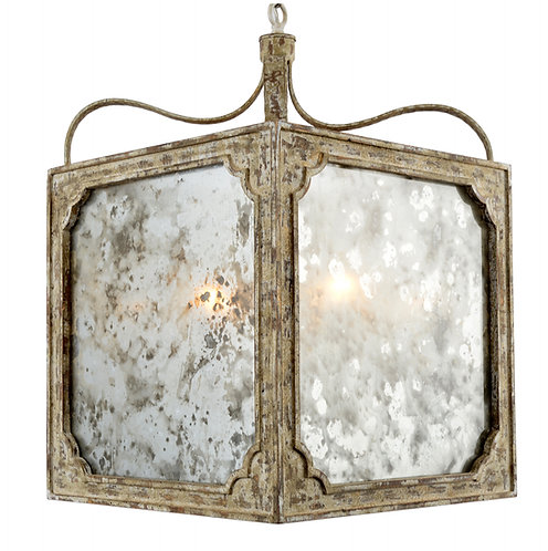 Nadia Chandelier with Antique Glass