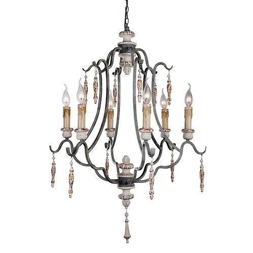 Arietta chandelier with Gray finish