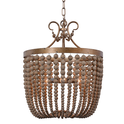 Darcia large chandelier in Antique Silver