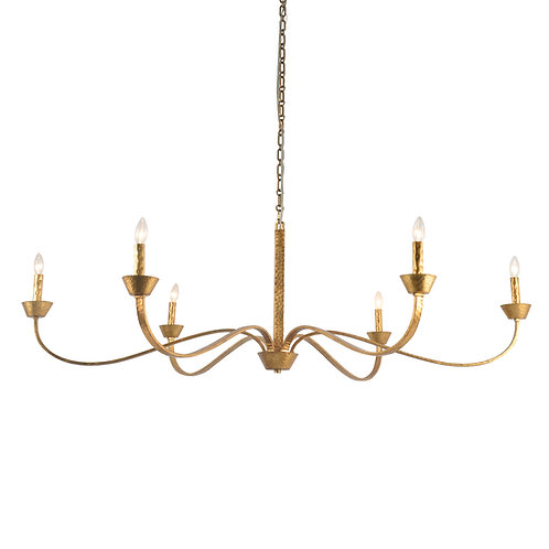 Sabine Chandelier with Aged Gold