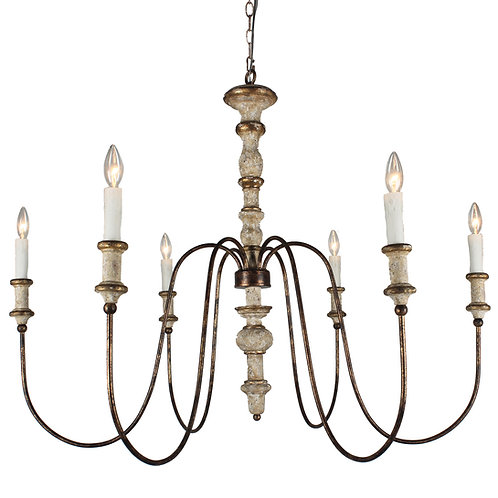 Karalea Chandelier with gray finish