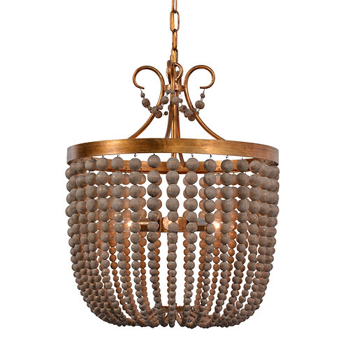Darcia small chandelier in Antique Gold