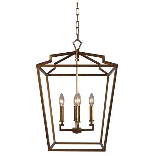 Camilla Small Chandedlier - Antique Gold Finish