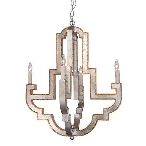Jamelia  4-light small chandelier