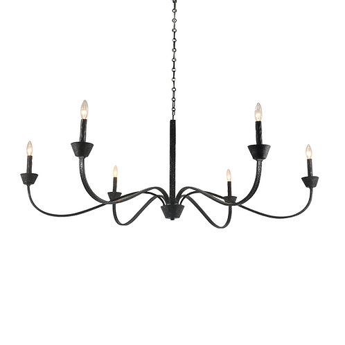 Sabine Chandelier with Aged Black