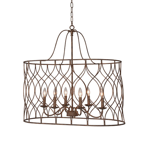Tabby 6-light Oval Chandelier