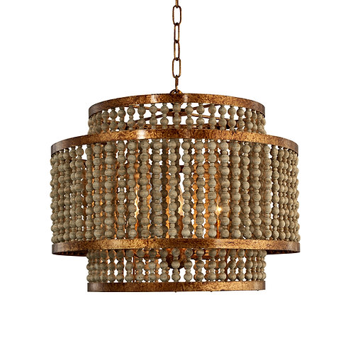 Lachina Chandelier with Antique Gold finish