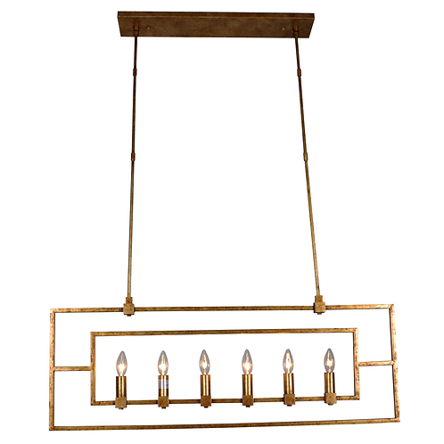 Daniela 6-light Chandelier - Antique Gold Finish