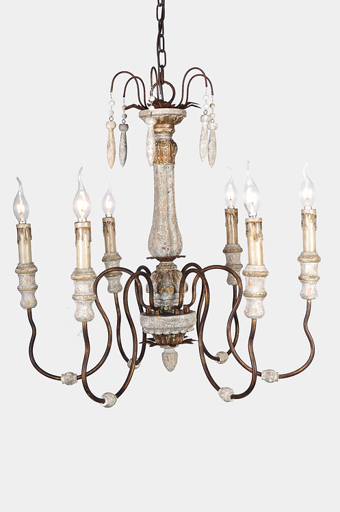 Luca 6-light chandelier
