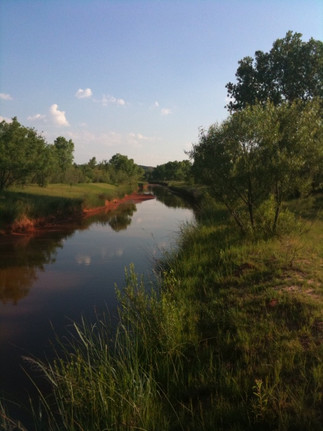 Located along the banks of the Brazos River...