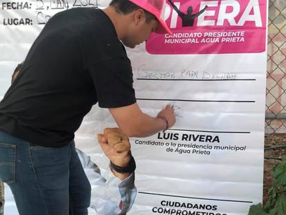 ES HORA DE CAMBIAR LA MANERA DE HACER POLÍTICA EN AGUA PRIETA: LUIS RIVERA