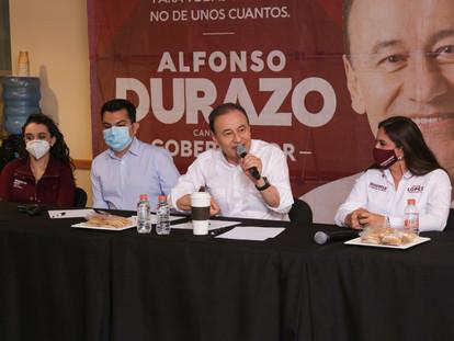 ALFONSO DURAZO PROPONE TRANSPARENCIA TOTAL EN LA LICITACIÓN Y CONTRATACIÓN DE OBRAS