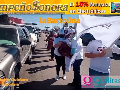 (VIDEO) REALIZAN ACTIVIDAD EN APOYO AL CANDIDATO A GOBERNADOR; ALFONSO DURAZO EN EL CENTRO DE LA CIU