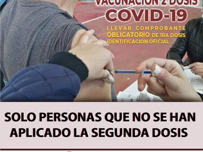 ATENCIÓN ADULTOS MAYORES DE 60 AÑOS QUE NO ALCANZARON LA SEGUNDA DOSIS DE LA VACUNA COVID 19