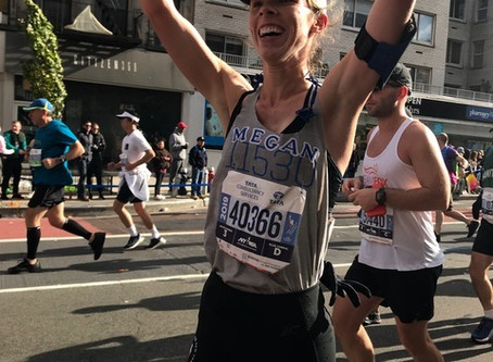 Megan Cuneo Raised almost $2,000 in the the NYC Marathon To Benefit I'M Not Done Yet!