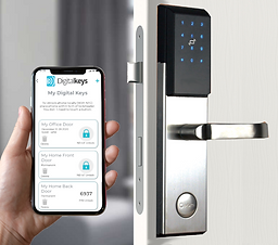 NB-IoT smartlock opening method 1 with Digital Keys app