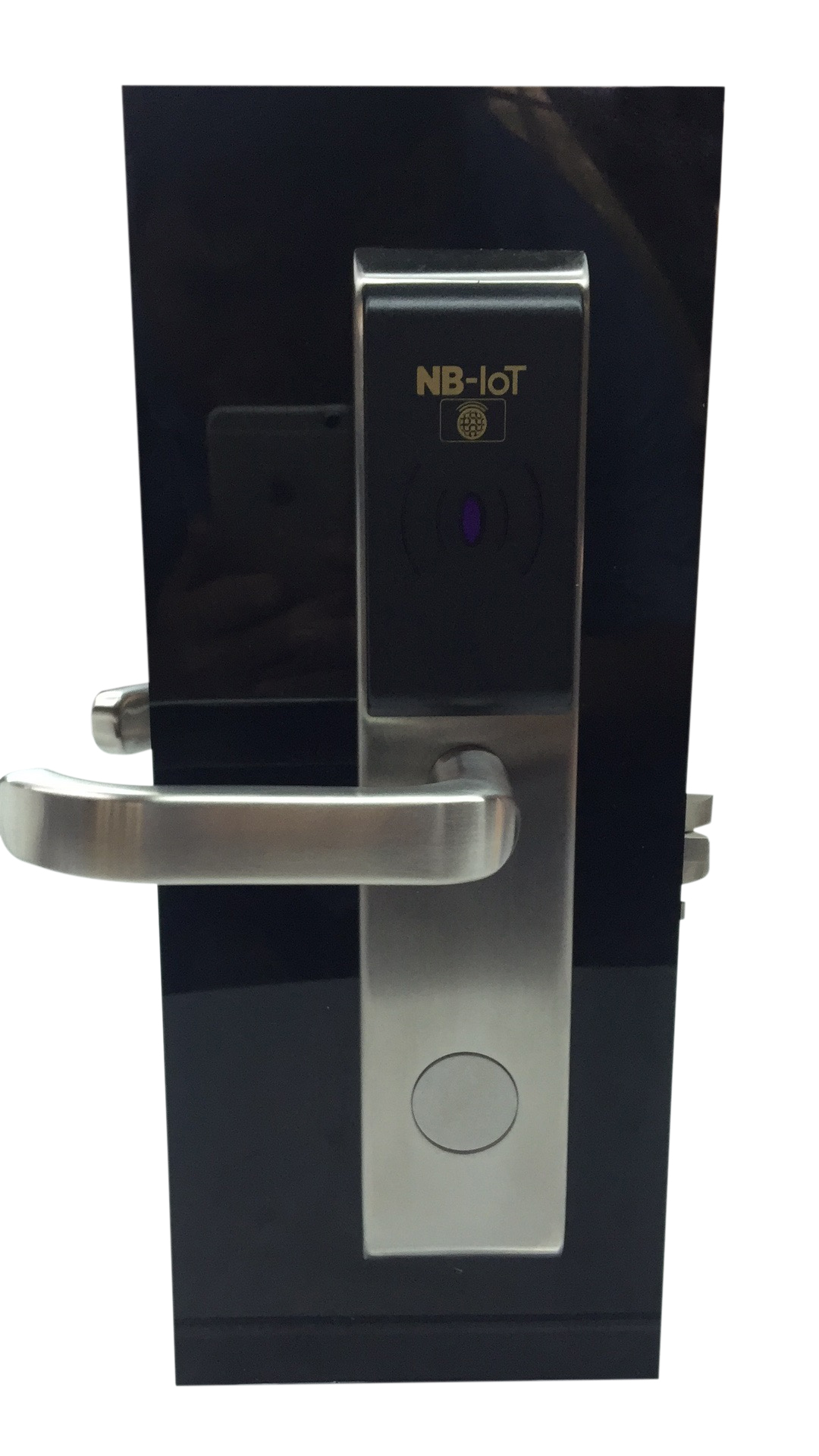 NB IoT lock front white background