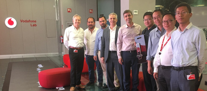 In the Vodafone lab in Madrid Spain