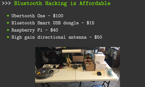 Bluetooth hacking is affordable