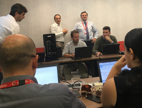 NB IoT smart access sales staff training in Vodafone Spain