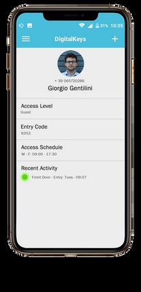 Digital Keys app