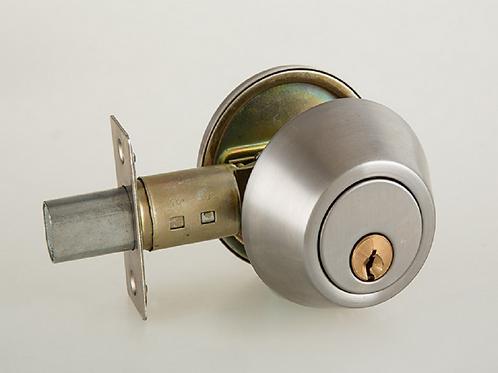 Deadbolt (single cylinder) outside keyed only