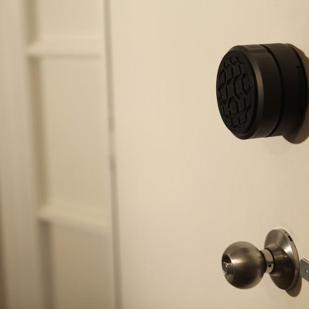 Narrowband Smartlock installs on the inside of your door