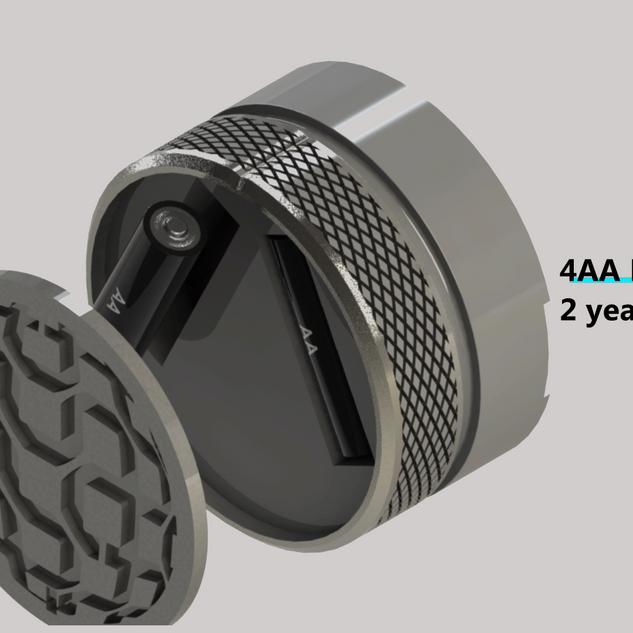 Narrowband Smartlock uses 4AA batteries