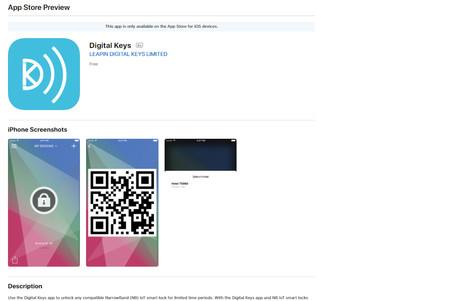 Digital Keys app in the App Store