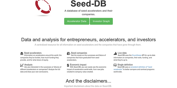Accelerator lists and data [Seed-db]