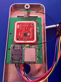 Close up of NB IoT Smart Lock PCB