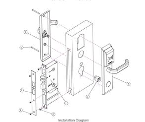 Install Image NB IoT smart lock LDK400