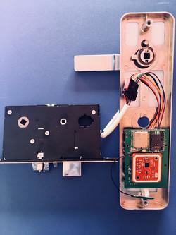Interior of NB IoT Smart lock