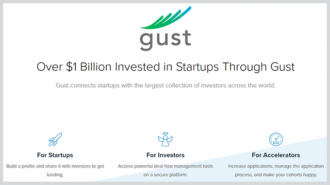 Global Accelerator Reports/reach out to investors [Gust]