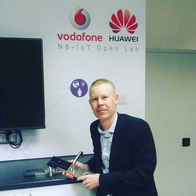 In the Huawei Vodafone NB IoT lab in New