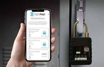 unlocking NB-IoT smart padlocks with digital keys