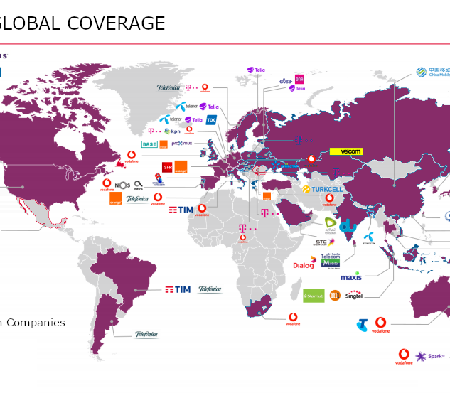 NB IoT Global Coverage Map