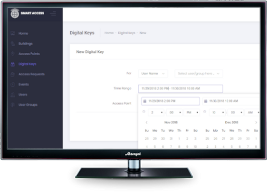 Digital Keys Access Management Software