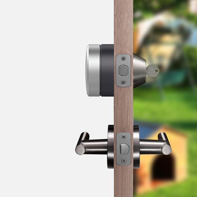 Narrowband Smartlock installs on your deadbolt