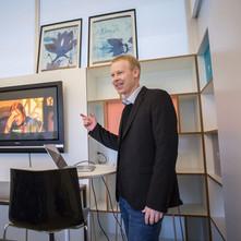 Steve Dunn speaking at H-Farm Accelerator