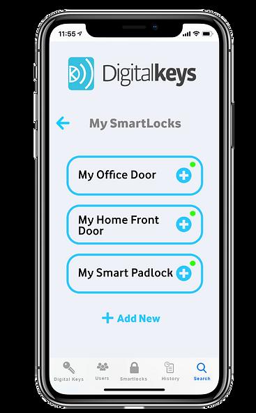 Digital Keys app screenshot