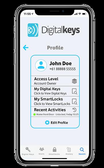 Digital Keys app screenshot - deliveries