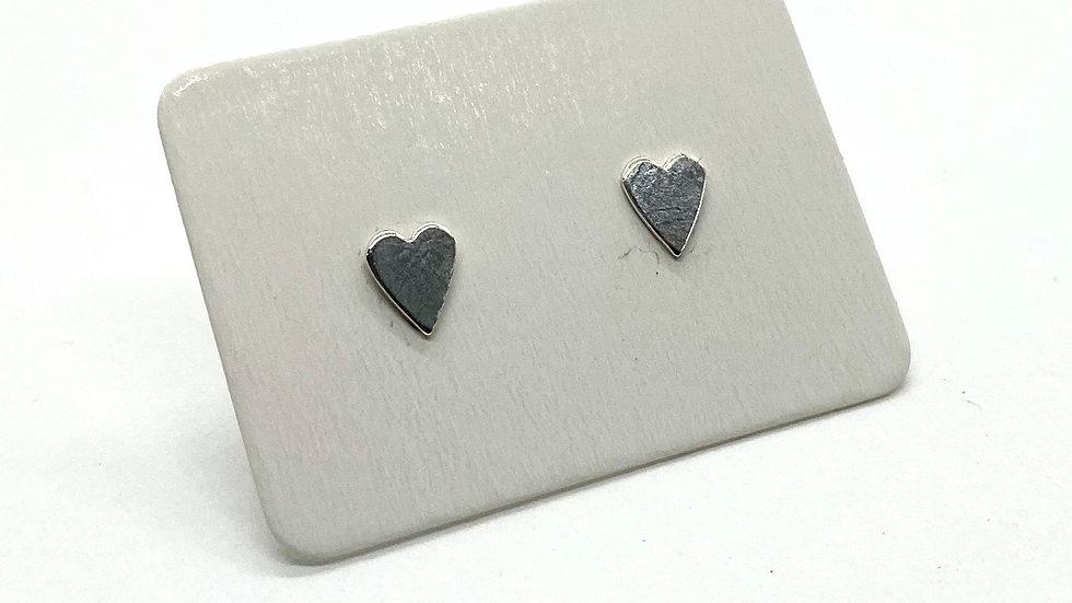 Mini Heart Silver Studs