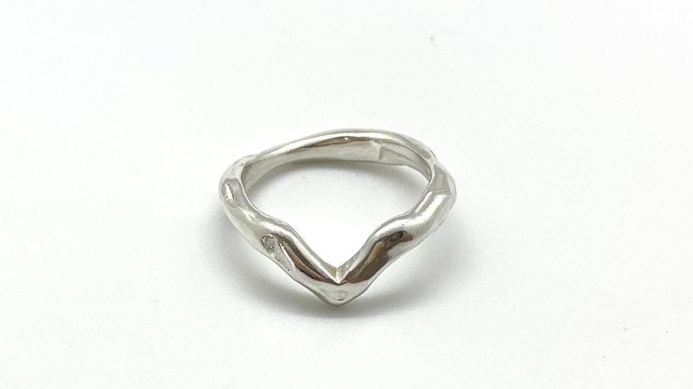 Freeform Chevron Ring